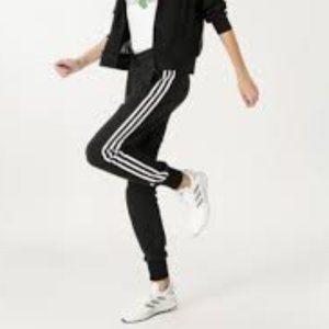 ADIDAS Logo Sweat Pant French Terry Joggers Stripe